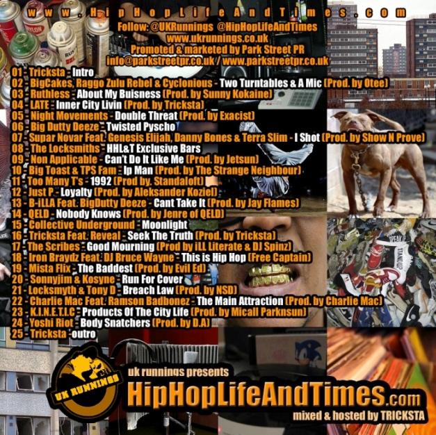 UK Runnings Presents HipHopLifeAndTimes.com - Vol 1 - back